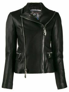 Philipp Plein statement biker jacket - Black