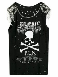 Philipp Plein skull print tank top - Black