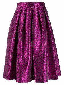 Ultràchic leopard print midi skirt - Pink