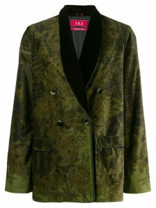 F.R.S For Restless Sleepers double breasted patterned blazer - Green