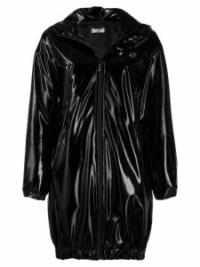 Philipp Plein vinyl hooded jacket - Black