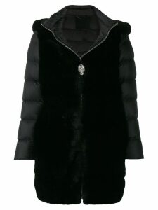 Philipp Plein statement padded coat - Black