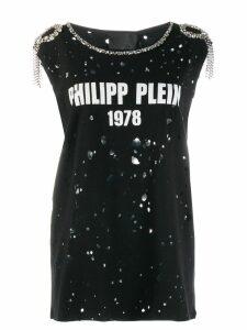 Philipp Plein embellished distressed T-shirt - Black
