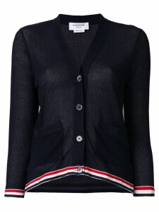 Thom Browne relaxed fit V-neck cardigan - Blue