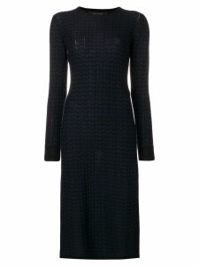 Marc Jacobs printed thermal dress - Blue