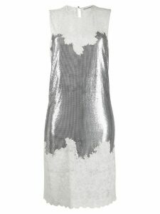 Paco Rabanne sequin lace dress - Silver
