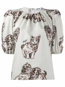 MSGM kitten print top - White