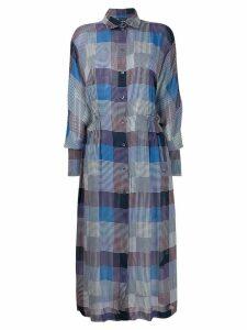 Frenken checked shirt dress - Blue