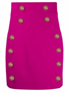 Balmain button-embellished mini skirt - Pink