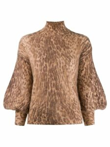 Zimmermann leopard print sweater - Brown