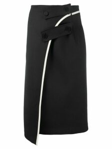 Ssheena button detail skirt - Black