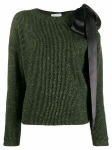 be blumarine bow-embellished cutout jumper - Green