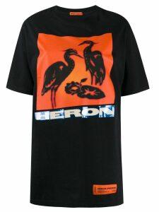 Heron Preston logo print T-shirt - Black