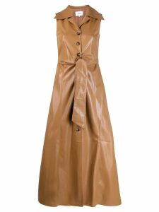 Nanushka faux leather midi dress - Brown