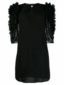 Alberta Ferretti tulle-panelled dress - Black