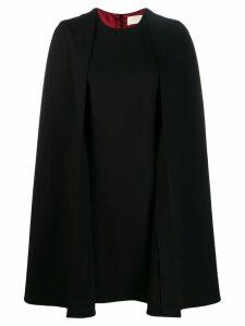 Sara Battaglia cape-style mini dress - Black