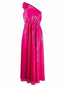 MSGM one shoulder midi dress - PINK