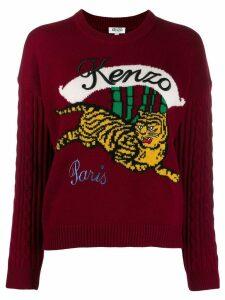 Kenzo running tiger sweater - Red