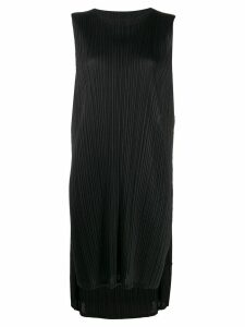Pleats Please Issey Miyake sleeveless pleated dress - Black