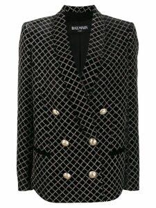 Balmain sparkle-effect double-breasted blazer - Black