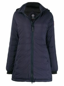 Canada Goose hooded quilted coat - Blue