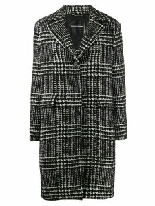 Ermanno Scervino houndstooth single-breasted coat - Black
