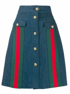 Gucci a-line denim skirt - Blue