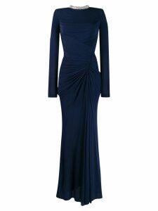 Alexander McQueen crystal rope evening dress - Blue