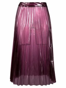 Ssheena sheer pleated skirt - Pink