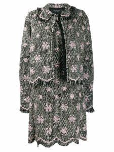 Giambattista Valli floral embroidered tweed jacket - Black
