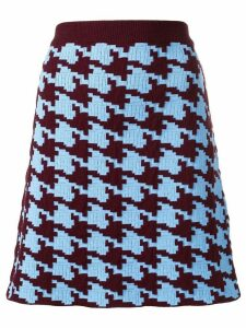Marni houndstooth pattern skirt - Blue