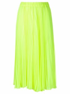 Michael Michael Kors pleated mid-length skirt - Yellow