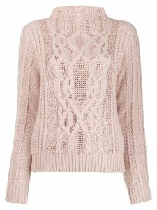 Ermanno Scervino long-sleeve knitted sweater - NEUTRALS