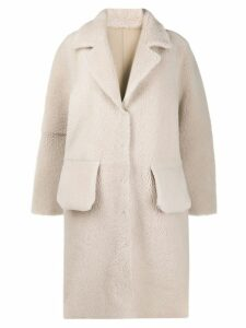 Frenken oversized coat - Neutrals