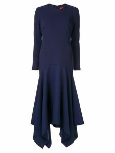 Solace London asymmetric long dress - Blue
