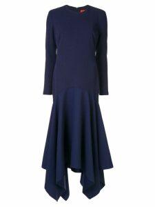 Solace London asymmetric long dress - Blue