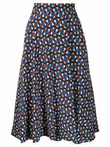 La Doublej patterned circle skirt - Blue
