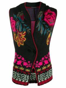 Etro floral jacquard waistcoat - Black