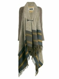 Uma Wang scarf detail cardi-coat - Neutrals