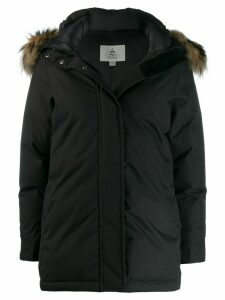 Pyrenex fur hooded coat - Black
