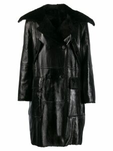 Yves Salomon shearling lined coat - Black