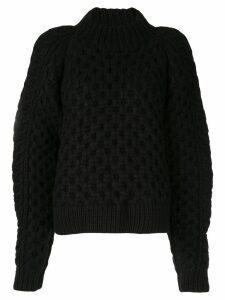 Partow chunky knit jumper - Black