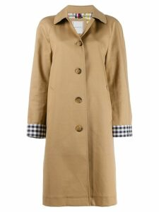 Tommy Hilfiger Check Cuff single-breasted coat - NEUTRALS