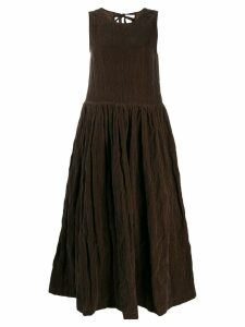Uma Wang flared midi dress - Brown