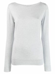 John Smedley Susan boat neck jumper - Grey