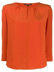 Luisa Cerano 3/4 sleeve blouse - Orange