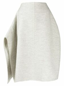 Jil Sander asymmetric draped knitted skirt - Grey