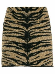 Laneus Tiger print skirt - Black