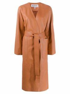Loewe belted midi coat - Brown
