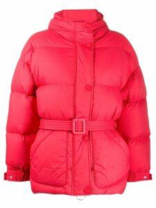 Ienki Ienki oversized belted padded jacket - Red